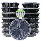 Freshware 15-Pack 9-inch Round Meal Prep Bento Box Food Cont