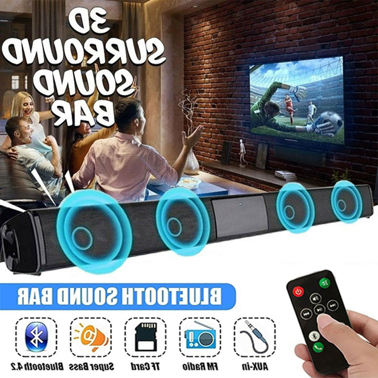 21.65inch 3D Surround Sound Bar with Wireless 4.0 Channel TV