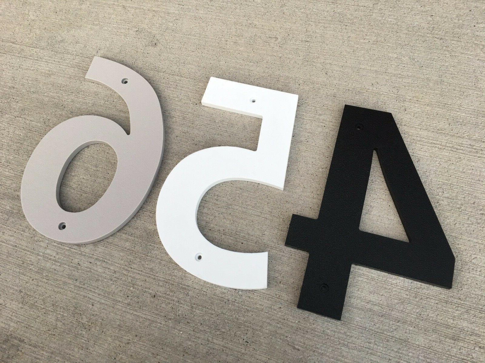 3 inch bold house numbers letters color