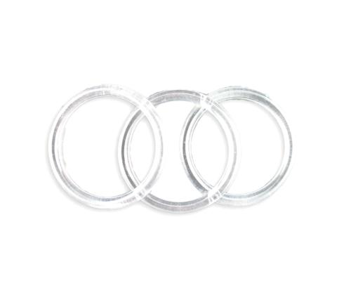 3 inch clear plastic acrylic craft rings