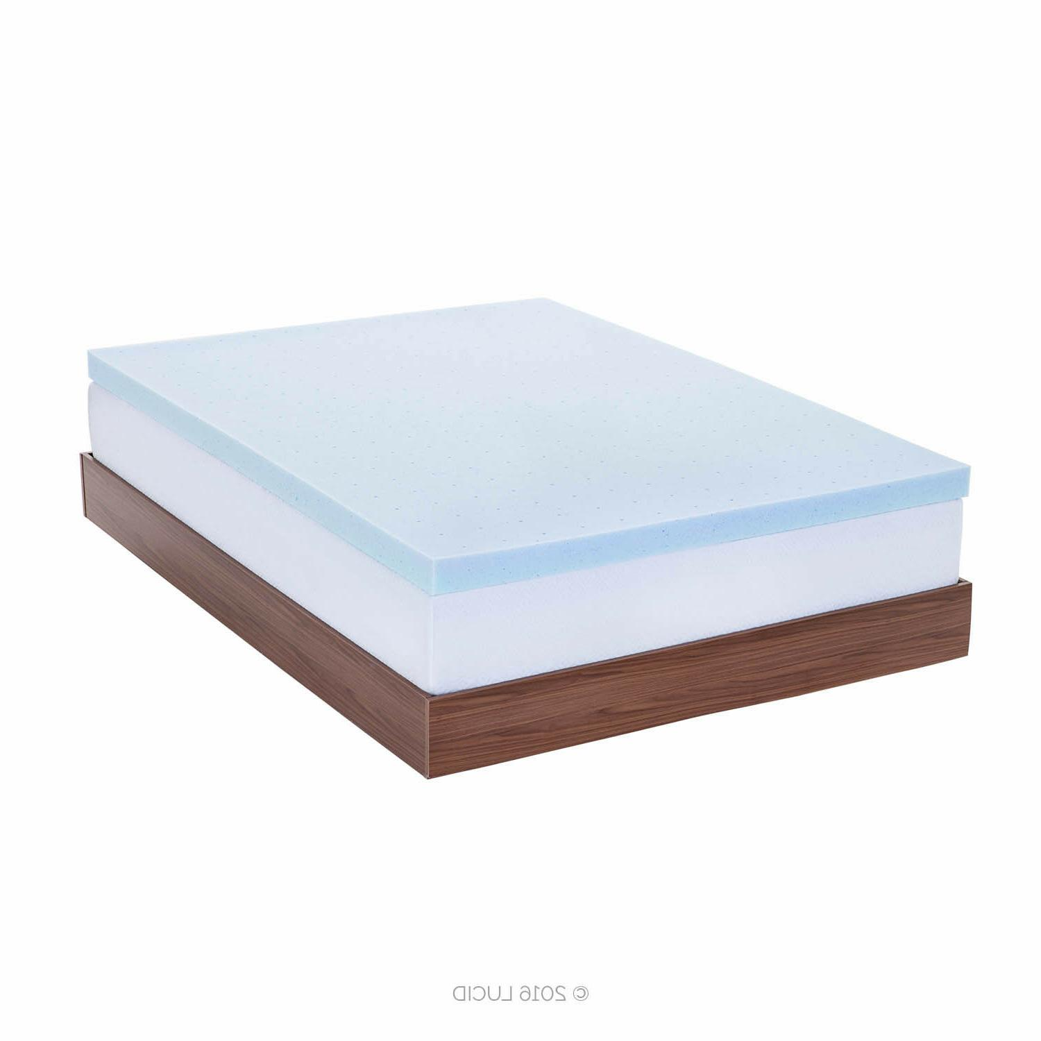 LUCID 2, Inch Cooling Gel Foam Full Queen
