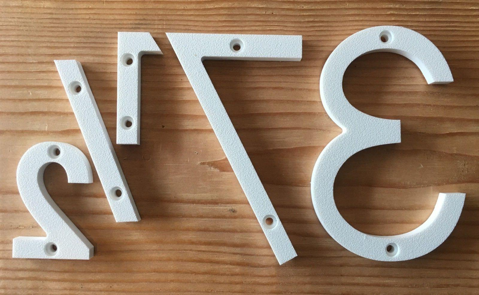 3 Modern Address Numbers Letters, color choices