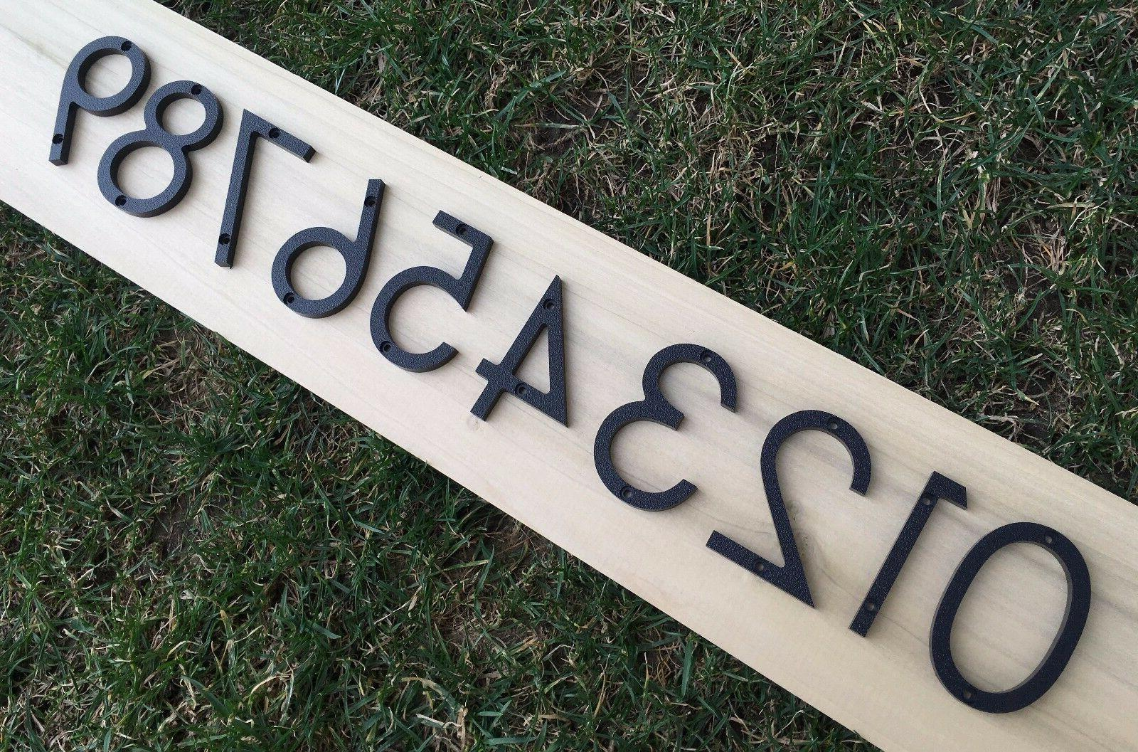 3 inch modern house address numbers letters