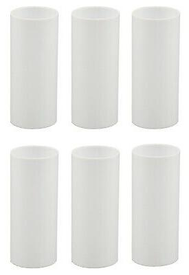 3 Inch White Plastic Candle Cover For Medium  Base Lamp Sock