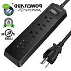 Poweradd 3-Outlet Surge Protector Power Strip 1250W 3 Smart