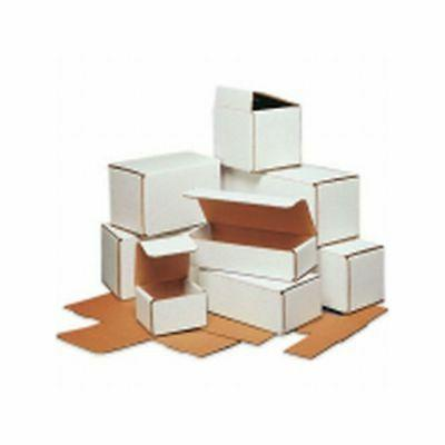 Box Packaging 9 Inch White Corrugated Mailer, 50/bundle