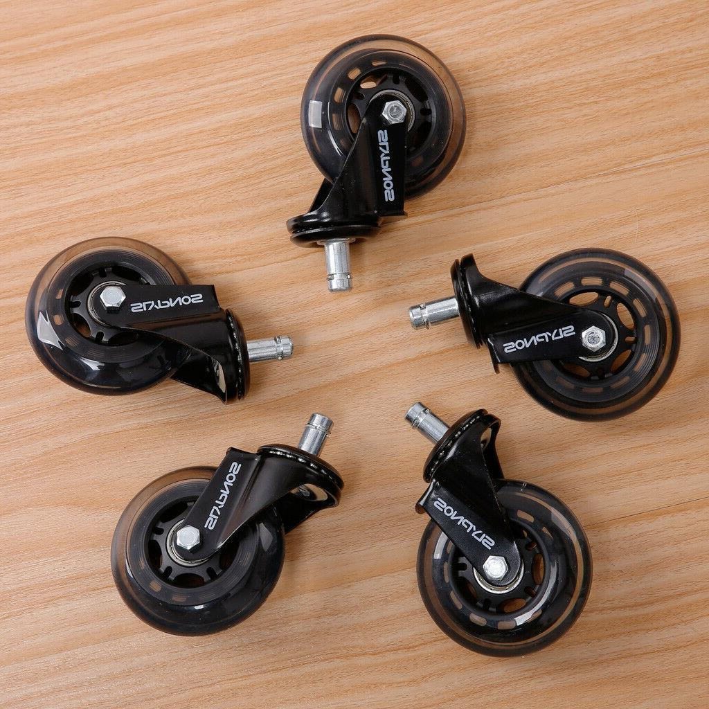 5 Pack 3 Inch Office Chair Soft Wheel Casters Rollers