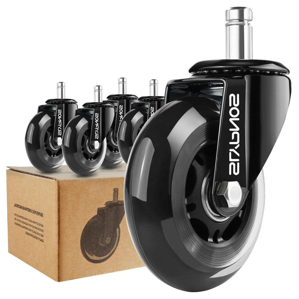 5 Office Chair Rollerblade Soft Casters Rollers