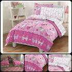 5 Piece Girls Comforter Set Ultra Soft Microfiber Girls Kids