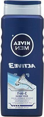 NIVEA Active3 Body Wash, 16.9
