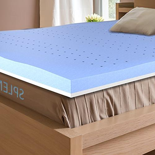 Splendoress 3 Inch Mattress Topper Queen Size - Hypoallergen