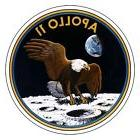 "Apollo 11 Stickers - Available in 2"" up to 6"" - Lunar NASA M"