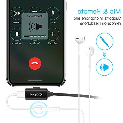 Audio & 3 in & Charging & USB Cord for Plus, 7/7 i-OS 10 or Later – Black