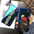 Blue Light Supreme Shark Case For iPhone X Xs Max Xr 6 6s 7