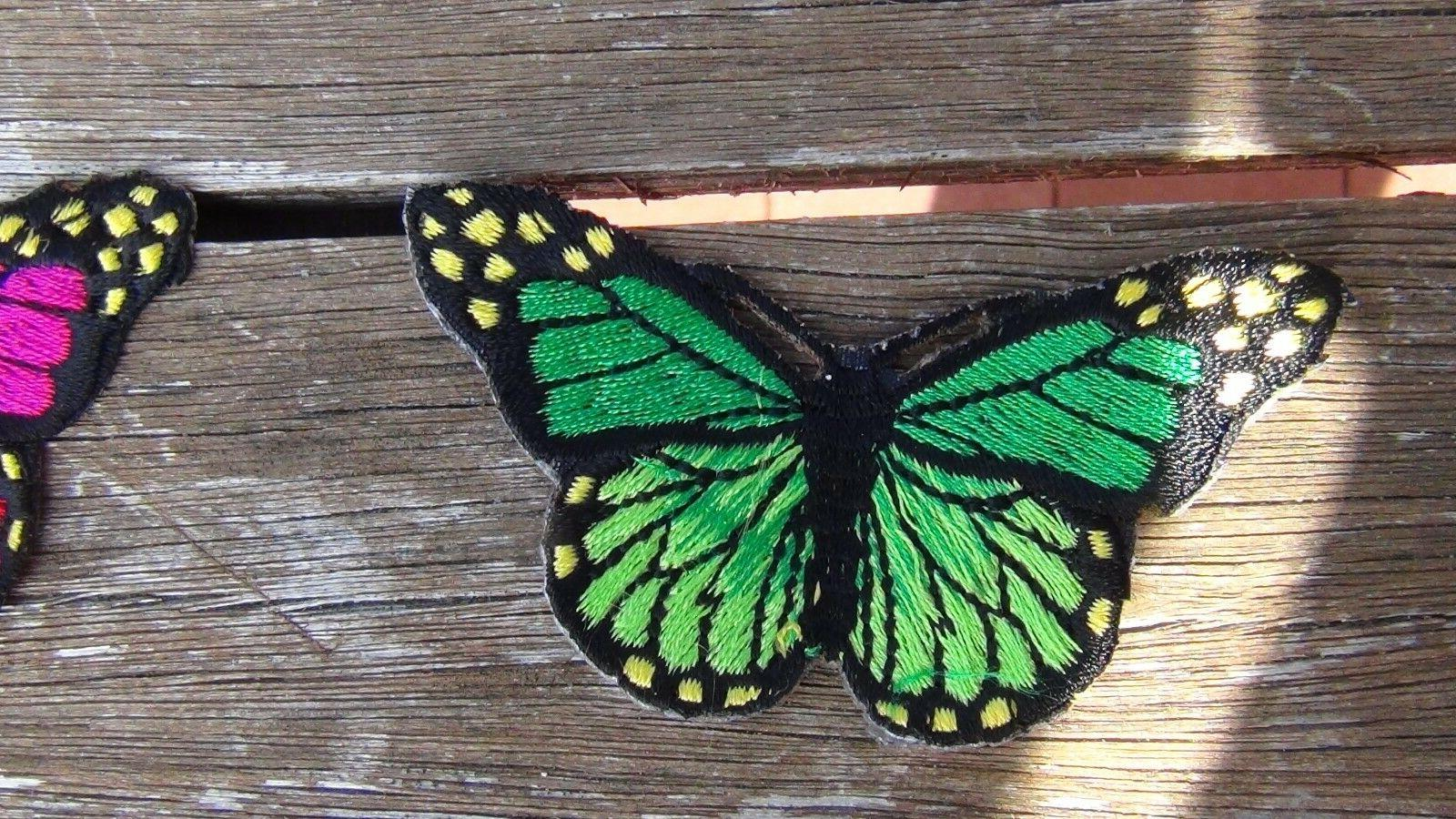 butterfly different color Iron x 3/4 inch