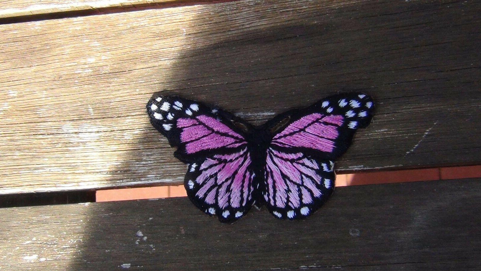 butterfly different color Iron 3 x 1 3/4