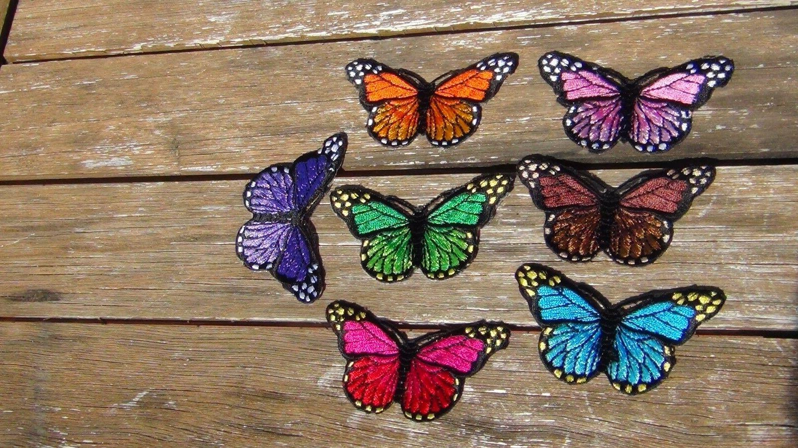 butterfly patches quantity 7 different color sew