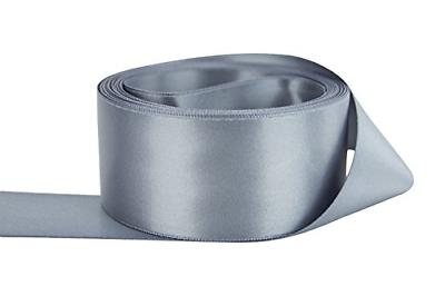 double faced satin 3 inch gray by