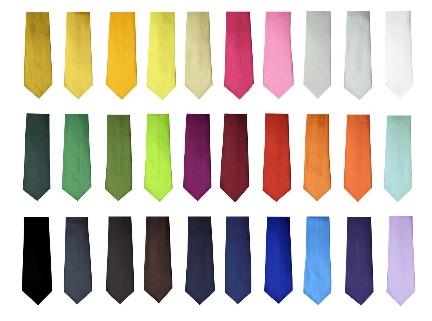 Fashion New Style Men's Unisex Solid Plain Neck ties Wide 3