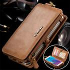 FLOVEME Luxury Retro Leather Wallet Phone Case Cover For App