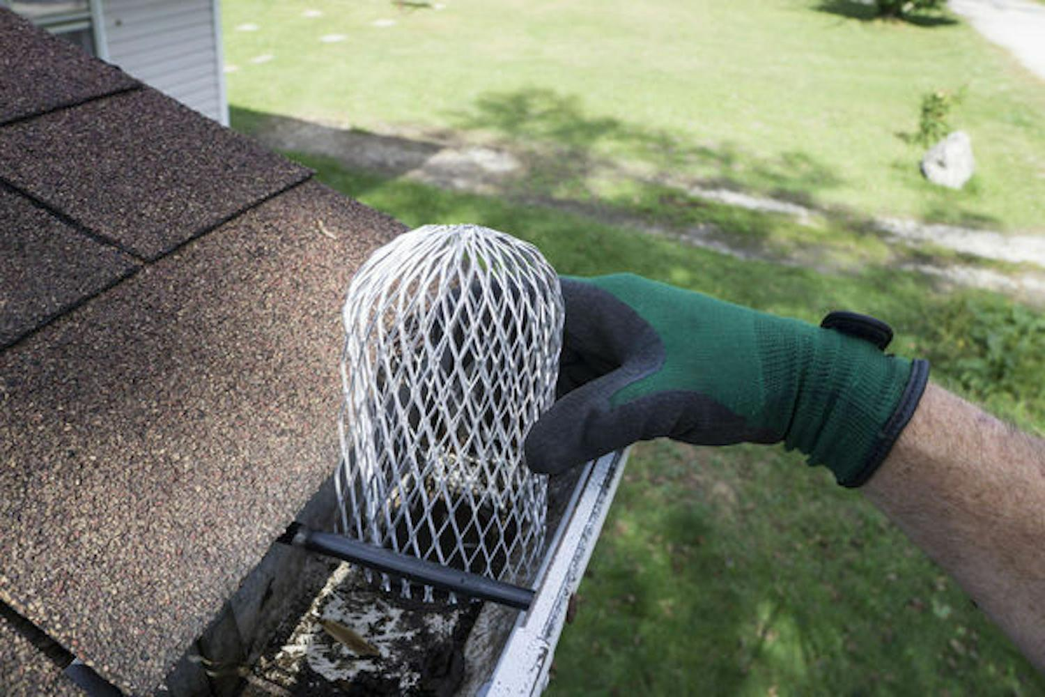 Gutter Guard 3 Inch Expand Aluminum Downspouts Filter Strain