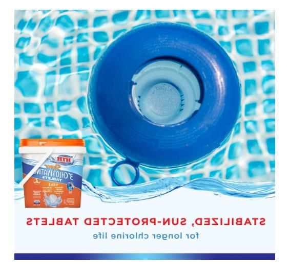 HTH 42033 Super Chlorinating Tablets for Swimming Pools, 5 lbs