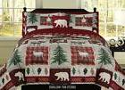 King, Full/Queen, or Twin Bear Lodge Deer Elk Rustic Cabin C