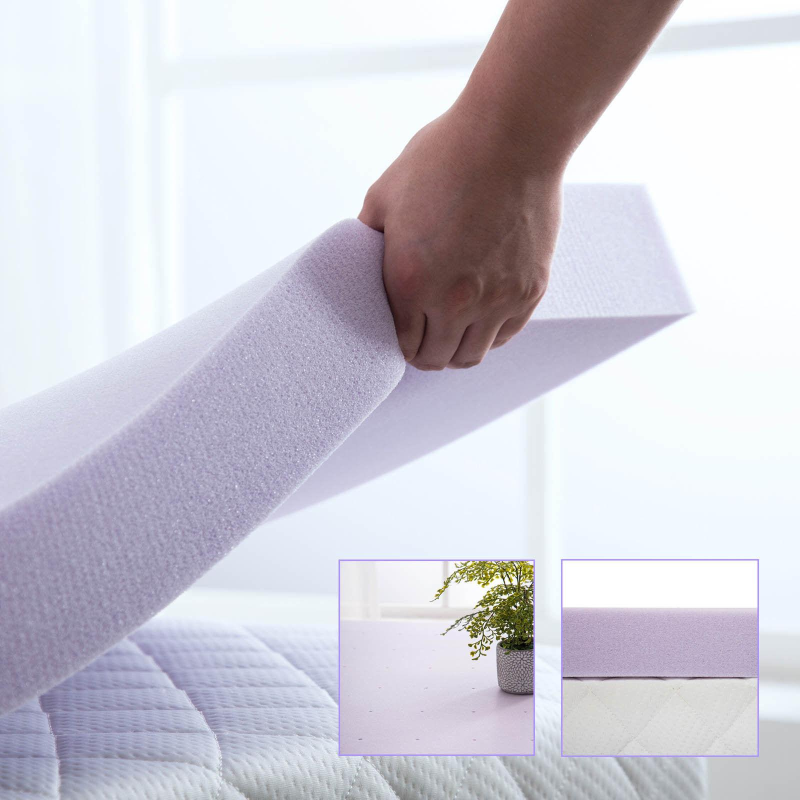 Lavender Memory Foam Mattress Bed Full Queen King Size Topper