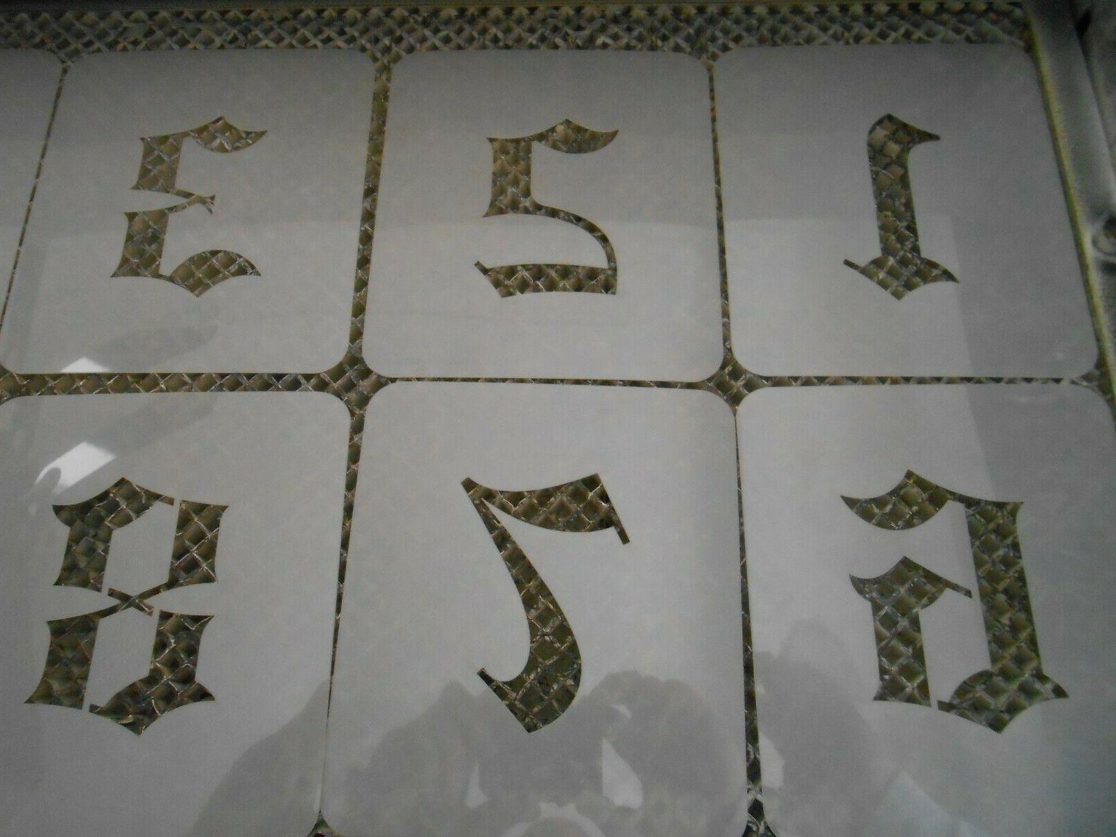 Old 3 Stencil Numbers