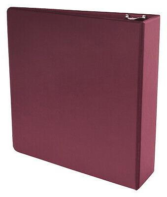 School Smart Polypropylene Round Ring Binder, 3 Inch, Maroon