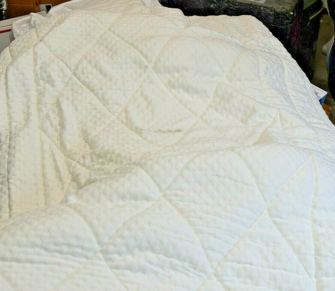 quilted deluxe 3 inch memory foam bed