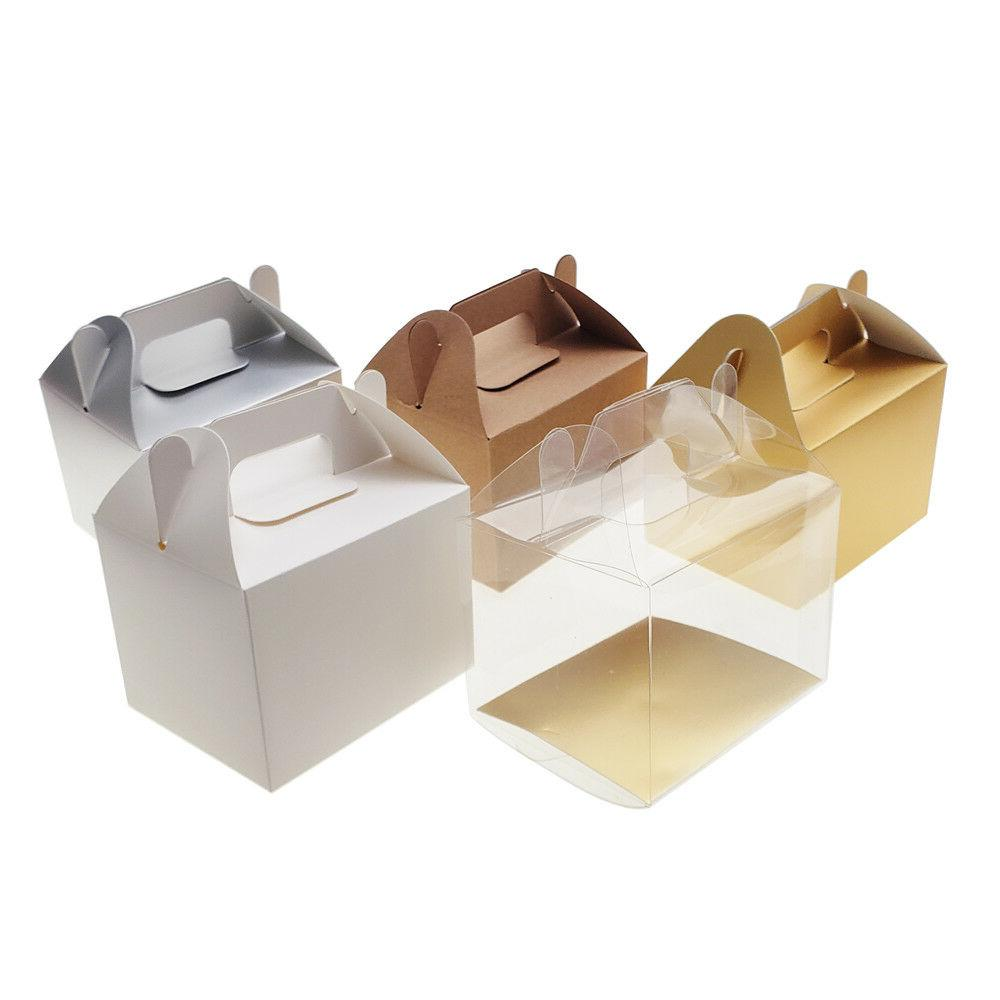 rectangle paper box with handle 4 inch