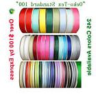 "Solid Color Grosgrain Ribbon-100 Yards 28 Colors 1/4"" 3/8"" 5"