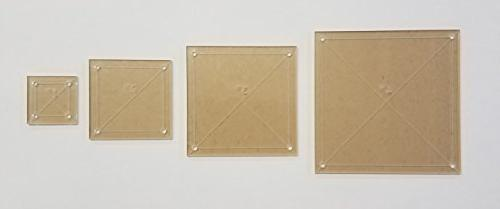 square quilting template set