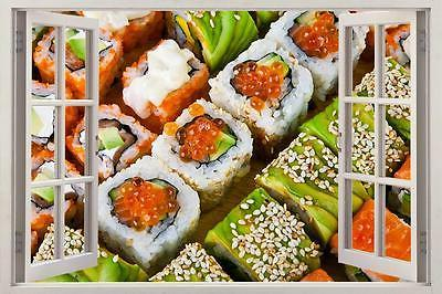 sushi 3d window decal wall sticker home