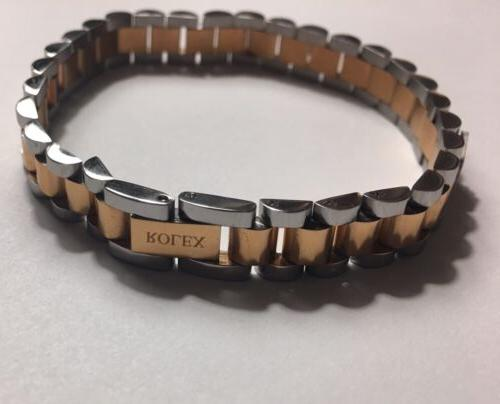 Rolex Two Tone Stateless Steal Unisex BRACELET 8'3 Inch.