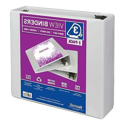 Samsill View Binder - 3 - White - 2 pk.