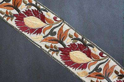 """Jasdee Vintage Border Trim 3""""Inch Width Floral Embroidery Wo"""