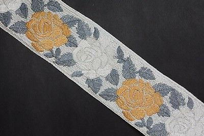 vintage border trim embroidery work 3 inch