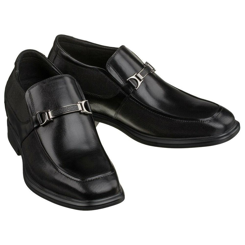 Inches Height Increase Buckle Detail Slip On