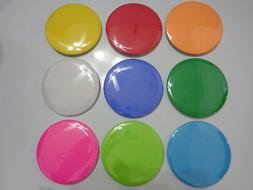 Large 3-inch Blank Pinback Button, Multiple Colors Available