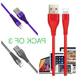 Phone Cable Novtech 3 Pack 3ft 6ft 10ft Long Charging Cable