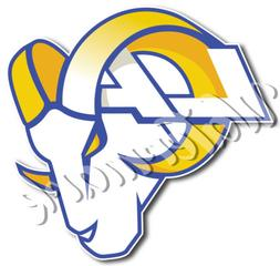 Los Angeles Rams NEW Combo Logo Sticker / Decal 10 Sizes wit