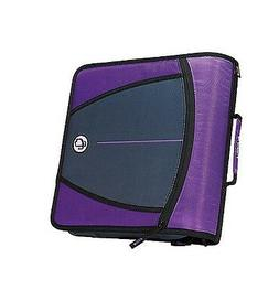 Case-it Mighty Zip Tab 3-Inch Zipper Binder, Purple, D-146-P