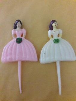 mis quince 3 inch food picks pink NEW; 60 pcs.