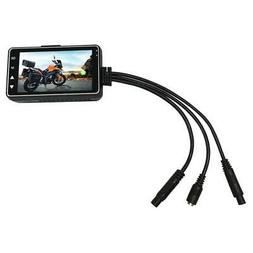 Motorcycle 3 Inch Screen Dash Camera Waterproof Video Record