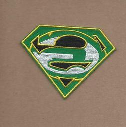 NEW 2 1/2 X 3 INCH GREEN BAY PACKERS S SHIELD IRON ON PATCH