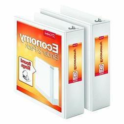 NEW Cardinal Economy Round Ring View Binders, 3 Inch, White,