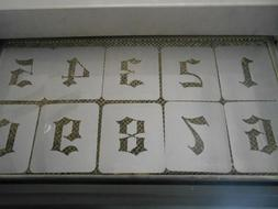 Old English 3 Inch Stencil Numbers 0-9!