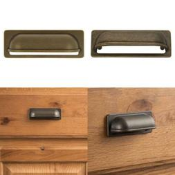 Hickory Hardware PA1023-WOA Oxford Antique Cup Cabinet Pull,